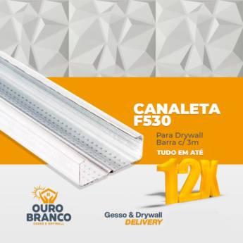 Comprar o produto de Canaleta F530 para Drywall Barra /3m em Revestimento de Parede em Foz do Iguaçu, PR por Solutudo