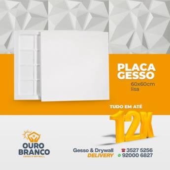 Comprar o produto de Placa Gesso  em Revestimento de Parede em Foz do Iguaçu, PR por Solutudo