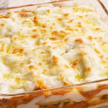 Comprar produto Lasanha ao Molho Branco em Massas pela empresa Rotisseria Ovos de Ouro Massas, Assados & Salgados em Atibaia, SP