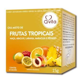 Comprar o produto de Frutas Tropicais 15g Sachê Q-vita em Chás pela empresa Viva Natural  em Foz do Iguaçu, PR por Solutudo