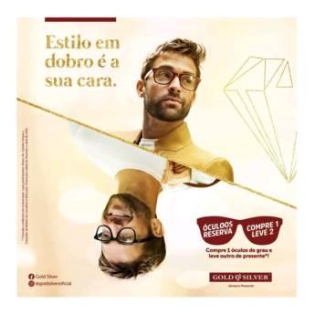 Comprar o produto de Estilo em dobro é sua cara! em Óculos pela empresa Gold & Silver em Botucatu, SP por Solutudo