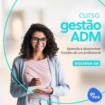 Comprar produto Curso de Gestão ADM em Cursos pela empresa Go Think - Educação Profissional em Jundiaí, SP