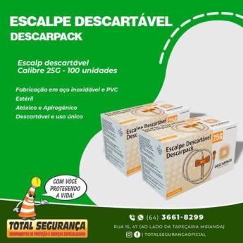 Comprar o produto de Escalpe Descartável - Descarpack! Calibre 25G em Saúde pela empresa Total Segurança em Mineiros, GO por Solutudo