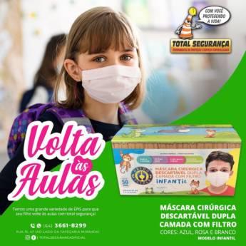 Comprar o produto de Máscara Cirúrgica descartável em Máscaras pela empresa Total Segurança em Mineiros, GO por Solutudo