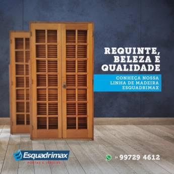 Comprar produto Portas de Madeira sob Medida em Esquadrias pela empresa Esquadrimax em Botucatu, SP