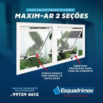 Comprar produto Maxim-ar 2 seções Linha Boldie em Esquadrias pela empresa Esquadrimax em Botucatu, SP