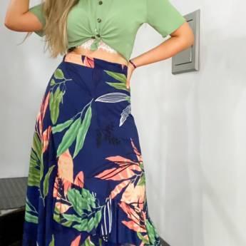 Comprar produto Saia Envelope +  Camisa Cropped  em Moda Feminina pela empresa Regalia em Mineiros, GO