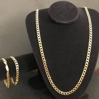 Comprar produto Conjunto Corrente e Pulseira Grumet Diamanta  em Correntes pela empresa Ouro Preto Joias em Bauru, SP