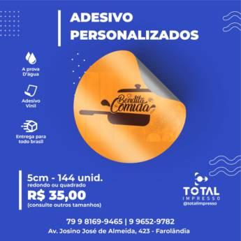 Comprar o produto de Adesivo Personalizado em Indústria Gráfica e Impressão em Aracaju, SE por Solutudo