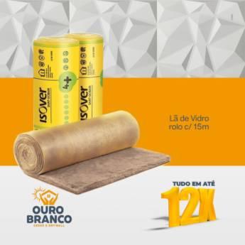 Comprar o produto de Lã de Vidro Rolo c/ 15m  em Gesso em Foz do Iguaçu, PR por Solutudo