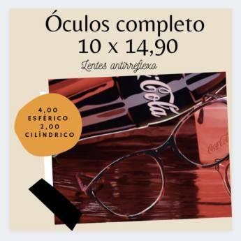 Comprar o produto de Promoção de Óculos Completo: Armações da marca Coca-Cola em Ótica em Botucatu, SP por Solutudo