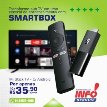 Comprar produto Mi Stick TV - C/ Android em Equipamentos e Acessórios de Informática - Eletrônicos pela empresa Info Service em São Manuel, SP