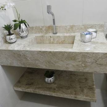 Comprar o produto de Pia para banheiro em Mármore  em Cubas e Pias para Banheiro em São Pedro, SP por Solutudo