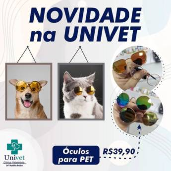 Comprar produto Óculos Pet em Pet Shop pela empresa Univet - Clínica Veterinária e Pet Shop em Aracaju, SE