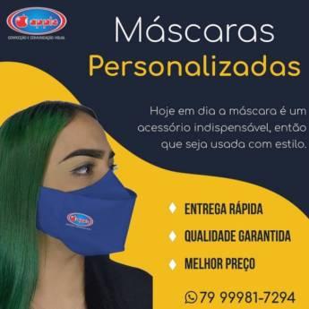 Comprar produto Máscaras personalizadas em Máscaras pela empresa Apple Confecções e Comunicação Visual em Aracaju, SE