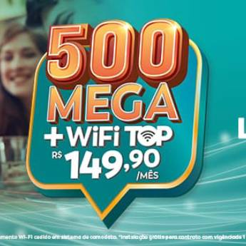 Comprar o produto de 500 Mega + Wifi Top - R$149,90 em Banda Larga - ADSL, Cable em Botucatu, SP por Solutudo