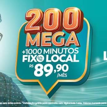 Comprar o produto de 200 Mega + 1000 Minutos fixo local - R$89,90 em Banda Larga - ADSL, Cable em Botucatu, SP por Solutudo