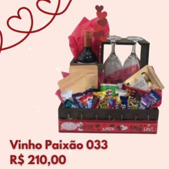 Comprar o produto de Vinho Paixão 033 em Cestas Personalizadas em Foz do Iguaçu, PR por Solutudo