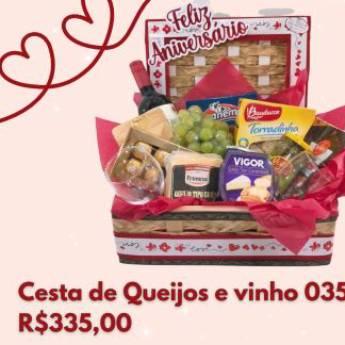 Comprar o produto de Cesta de Queijos e Vinho 035 em Cesta de Café da Manhã em Foz do Iguaçu, PR por Solutudo