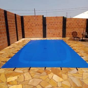 Comprar produto Capa para piscina em lona translúcida em Produtos para Piscina pela empresa Toldos Aparecida em Botucatu, SP