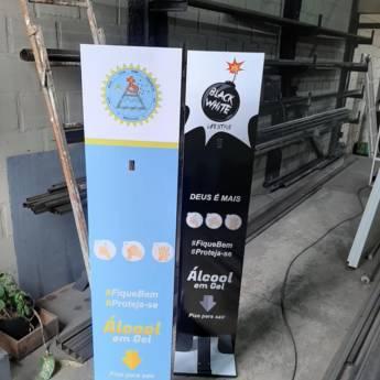 Comprar produto Totens para álcool em gel em Álcool em Gel pela empresa Toldos Aparecida em Botucatu, SP