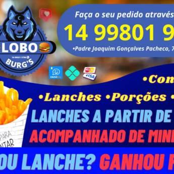 Comprar produto COMPROU LANCHE, GANHOU FRITAS! em Lanches - Lanchonetes pela empresa Lobo Burg's Lanchonete em Botucatu, SP