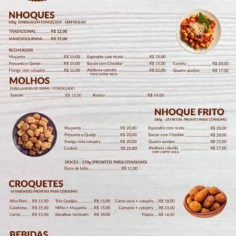 Comprar produto CARDÁPIO em Massas pela empresa La Laine Nhoques em Botucatu, SP