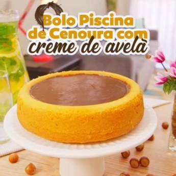 Comprar produto Bolo Piscina de Cenoura com Creme de Avelã em Bolos e Doces pela empresa Casa de Bolos - Loja 2 em Botucatu, SP