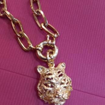 Comprar o produto de Colar Corrente Tigre Dourado em Colares em Foz do Iguaçu, PR por Solutudo