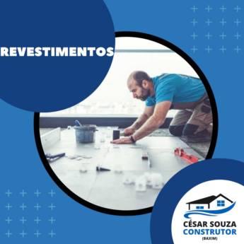 Comprar produto REVESTIMENTOS DE PISOS E AZULEJOS EM GERAL em Construção pela empresa César Souza - Construtor - Pinturas - Elétricas - Piscinas em Botucatu, SP