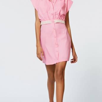 Comprar o produto de Chemise Morena Rosa Curto Abertura Costas Rosa em Vestidos em Foz do Iguaçu, PR por Solutudo