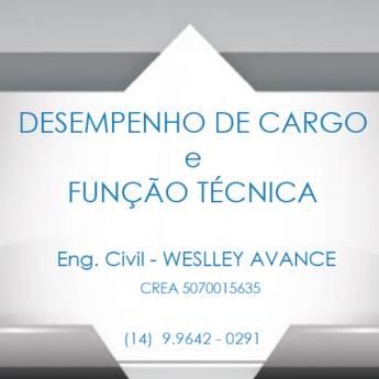 Comprar o produto de Desempenho de Cargo e Função Técnica em Engenharia - Engenheiros em Botucatu, SP por Solutudo