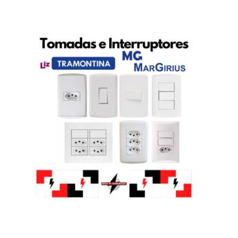 Comprar o produto de Tomadas e Interruptores em Materiais Elétricos pela empresa Multi Energia Instalações e Materiais Elétricos  em Atibaia, SP por Solutudo