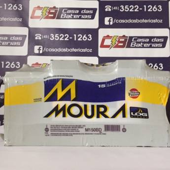Comprar o produto de Bateria Moura M150BD em Baterias Automotivas pela empresa Casa das Baterias em Foz do Iguaçu, PR por Solutudo