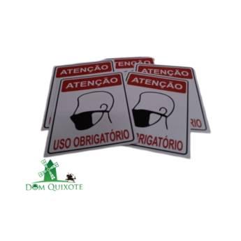 Comprar o produto de Placa Informativa - Uso obrigatório de máscaras em Sinalização pela empresa Dom Quixote Equipamentos de Proteção Individual em Jundiaí, SP por Solutudo