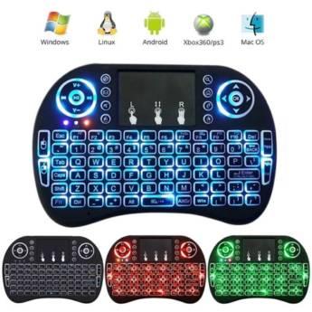 Comprar o produto de Mini teclado sem fio com touchpad mouse em Teclados em Botucatu, SP por Solutudo