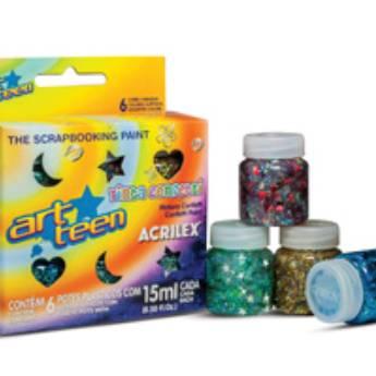 Comprar o produto de Tinta Confetti Acrilex em Materiais Escolares pela empresa Eloy Festas em Jundiaí, SP por Solutudo