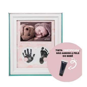 Comprar o produto de Porta retrato pezinho - Menina em Artesanato em Aracaju, SE por Solutudo