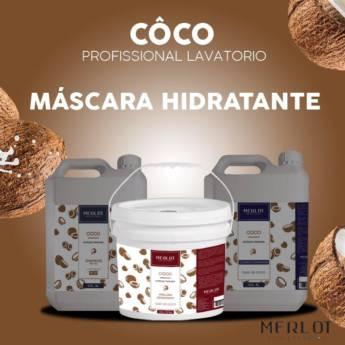Comprar o produto de MASCARA HIDRATANTE CÔCO MERLOT LINHA PROFISSIONAL BALDE 3,200 KG em Tratamento em Araçatuba, SP por Solutudo
