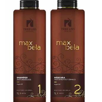 Comprar o produto de Kit Max Bela Máscara Tratamento Térmico + Shampoo Antí- Residuos 1 litro da Tree liss em Escova Progressiva em Araçatuba, SP por Solutudo