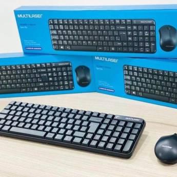 Comprar o produto de Kit Teclado e Mouse sem Fio Slim TC212 Multilaser em Kits Teclado e Mouse em Botucatu, SP por Solutudo