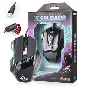 Comprar o produto de Mouse Gamer com fio USB GM-700 em Mouses em Botucatu, SP por Solutudo