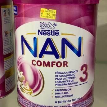 Comprar o produto de Leite Nan 3 comfor 800g em Leite Infantil em Foz do Iguaçu, PR por Solutudo
