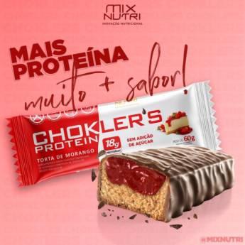 Comprar o produto de Barra Proteica sabor chantilly com recheio ( chockler's Protein Mix Nutri) em Produtos Naturais em Foz do Iguaçu, PR por Solutudo