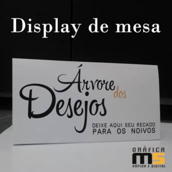 Comprar o produto de Display de mesa em Gráficas e Impressão em Bauru, SP por Solutudo
