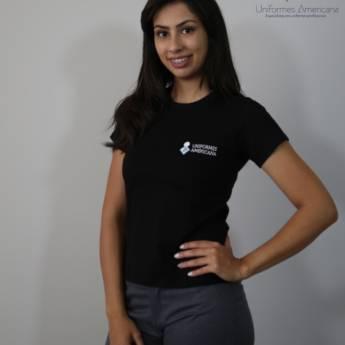 Comprar produto CAMISETA FEMININA - GOLA REDONDA  em Uniformes pela empresa Uniformes Americana em Americana, SP