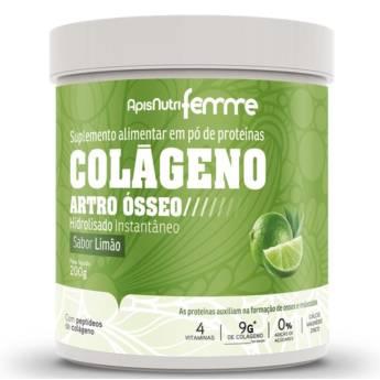 Comprar o produto de Colágeno Hidrolisado Artro ósseo ( sabor limão-clorofila) 200g  em Produtos Naturais em Foz do Iguaçu, PR por Solutudo