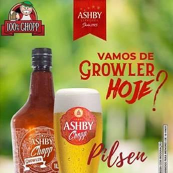 Comprar produto Chopp Pilsen Growler de 1lt em Cervejarias pela empresa 100% Chopp - Chopp Ashby em Americana, SP