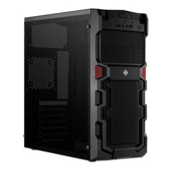 Comprar o produto de Gabinete gamer TGT Stryker preto lateral acrílico, TGT-STR-01 em Gabinetes em Botucatu, SP por Solutudo