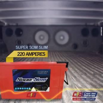 Comprar o produto de Bateria Super Som em Carros em Foz do Iguaçu, PR por Solutudo